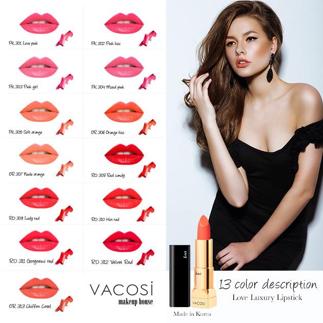 Sơn Tình yêu Cao Cấp Vacosi - Luxury Lipstick Tình yêu